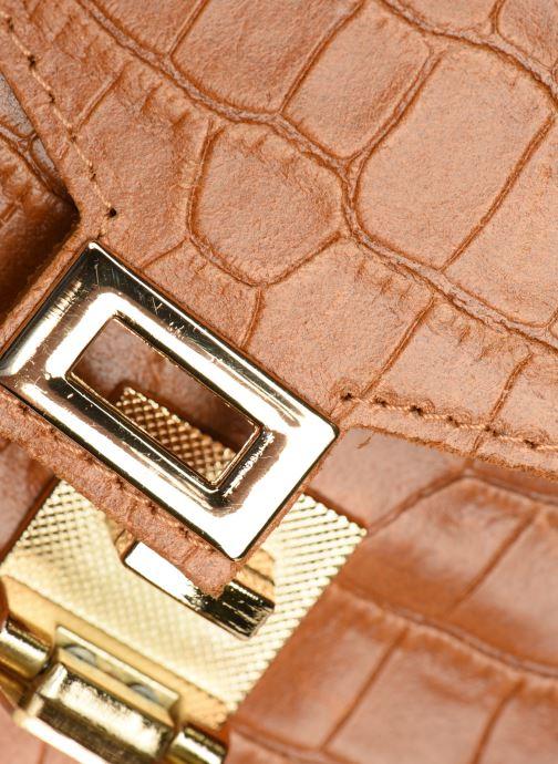 Bolsos de mano Georgia Rose Macroco Leather Marrón vista lateral izquierda