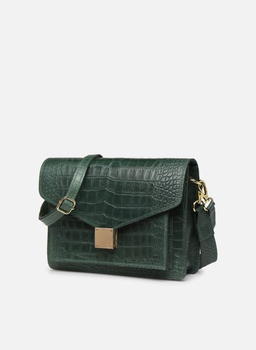Borse Georgia Rose Macroco Leather Verde modello indossato