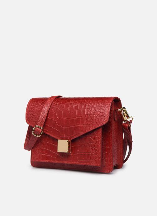 Sacs à main Georgia Rose Macroco Leather Rouge vue portées chaussures