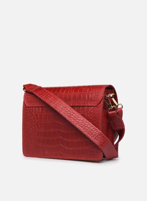 Sacs à main Georgia Rose Macroco Leather Rouge vue droite