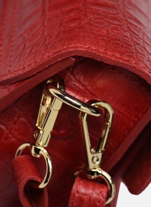 Sacs à main Georgia Rose Macroco Leather Rouge vue gauche
