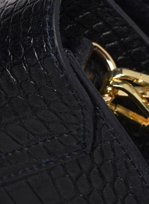 Sacs à main Georgia Rose Macroco Leather Bleu vue gauche