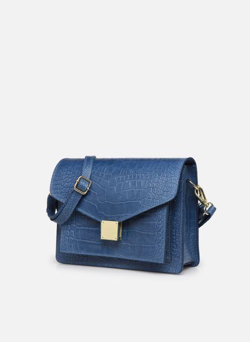 Borse Georgia Rose Macroco Leather Azzurro modello indossato