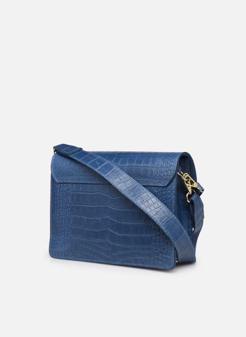 Handtaschen Georgia Rose Macroco Leather blau ansicht von rechts