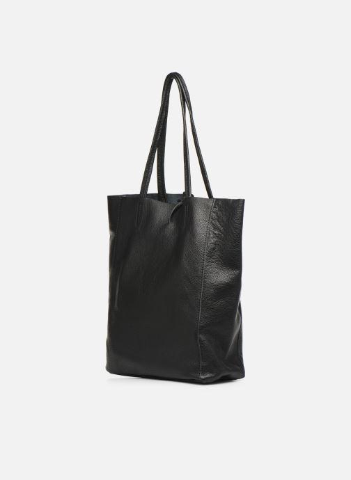 Handtaschen Georgia Rose Moncabas Leather schwarz ansicht von rechts