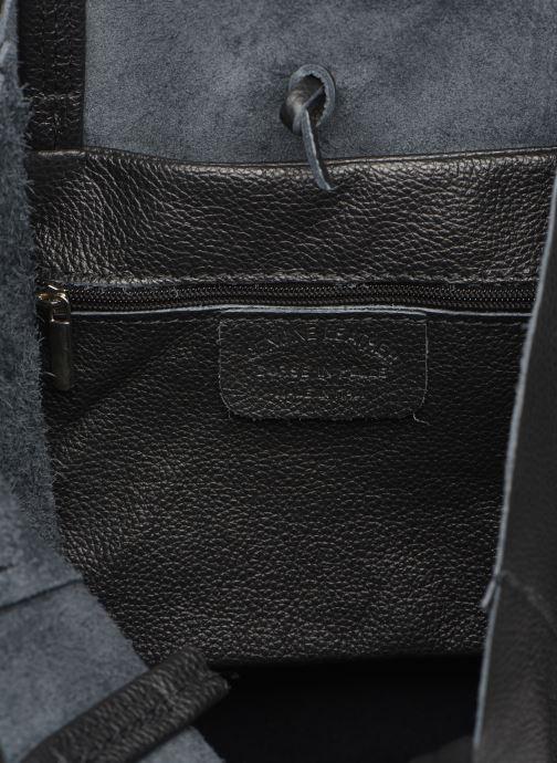Bolsos de mano Georgia Rose Moncabas Leather Negro vistra trasera