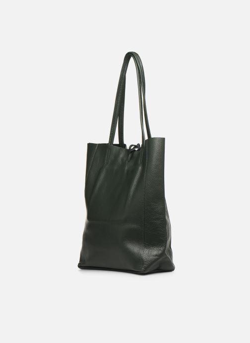 Handtaschen Georgia Rose Moncabas Leather grün ansicht von rechts