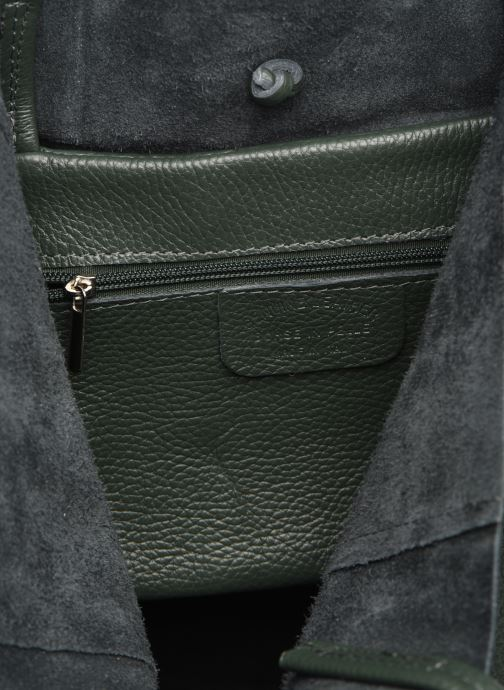 Handtassen Georgia Rose Moncabas Leather Groen achterkant