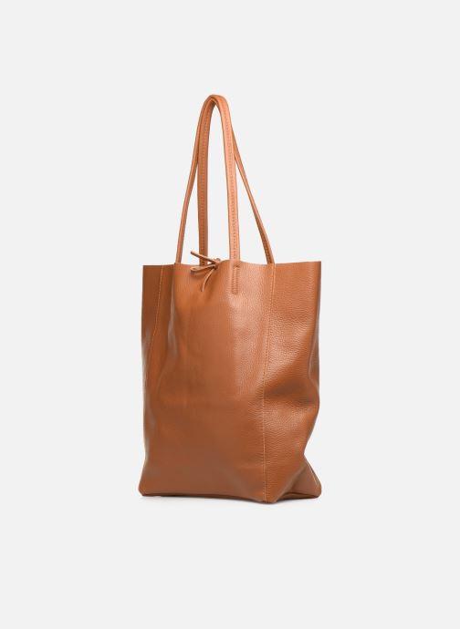 Handtassen Georgia Rose Moncabas Leather Bruin model