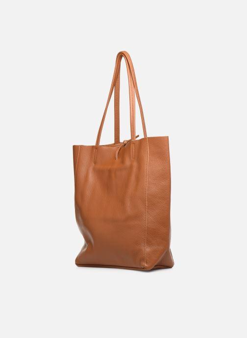 Håndtasker Georgia Rose Moncabas Leather Brun Se fra højre