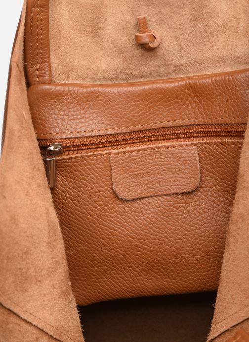 Handtassen Georgia Rose Moncabas Leather Bruin achterkant