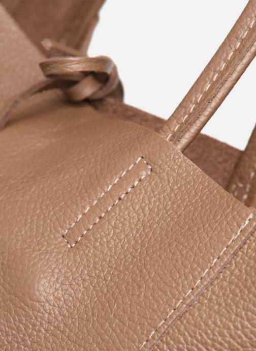 Sacs à main Georgia Rose Moncabas Leather Marron vue gauche