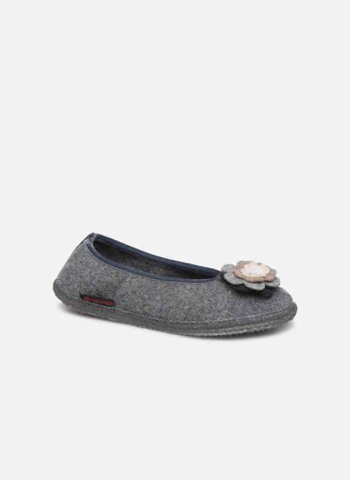 Chaussons Giesswein LAHNTAL Gris vue détail/paire