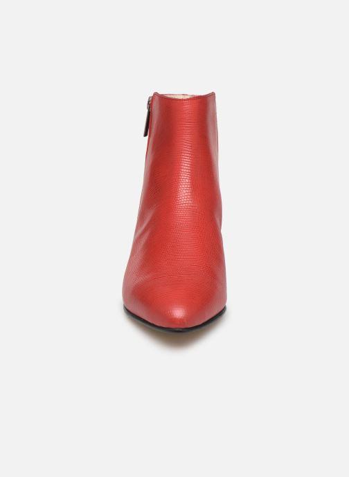 Bottines et boots Georgia Rose Silvana Rouge vue portées chaussures