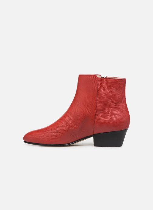 Bottines et boots Georgia Rose Silvana Rouge vue face