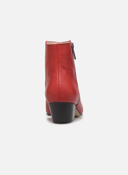 Bottines et boots Georgia Rose Silvana Rouge vue droite