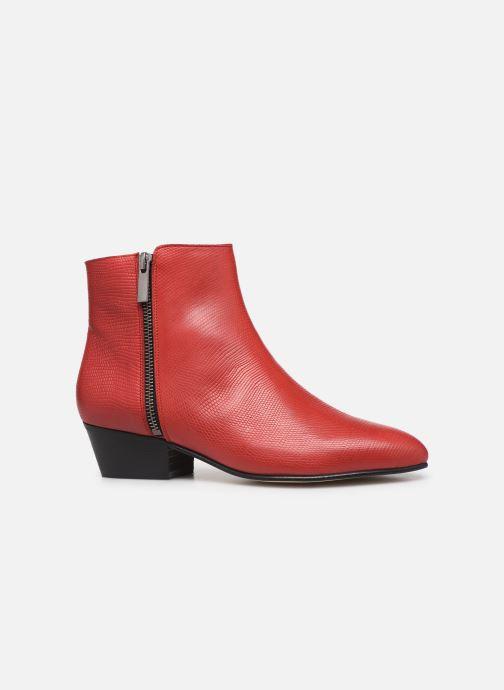 Bottines et boots Georgia Rose Silvana Rouge vue derrière