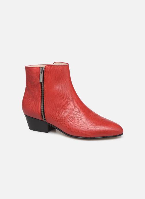 Ankelstøvler Georgia Rose Silvana Rød detaljeret billede af skoene