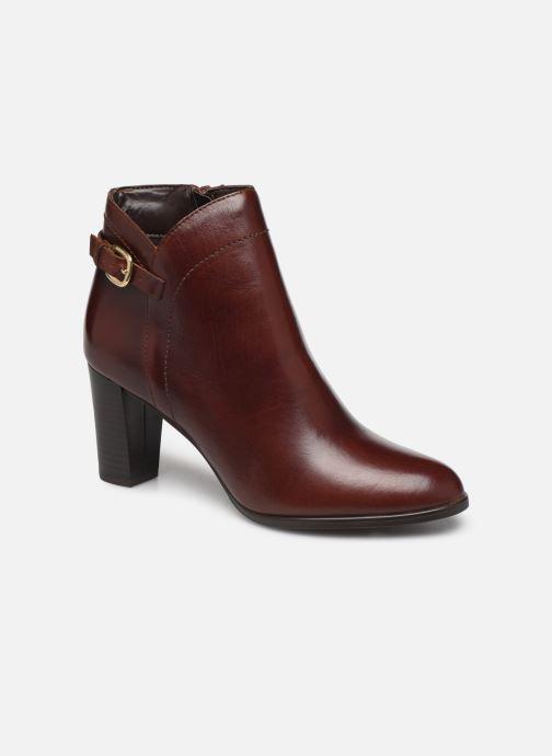 Ankelstøvler Georgia Rose Lerica Brun detaljeret billede af skoene