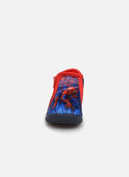 Hausschuhe Spiderman Sicilien blau schuhe getragen