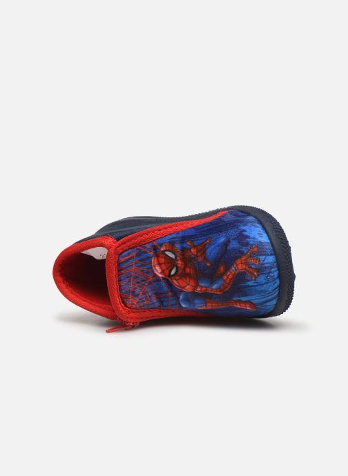 Hausschuhe Spiderman Sicilien blau ansicht von links
