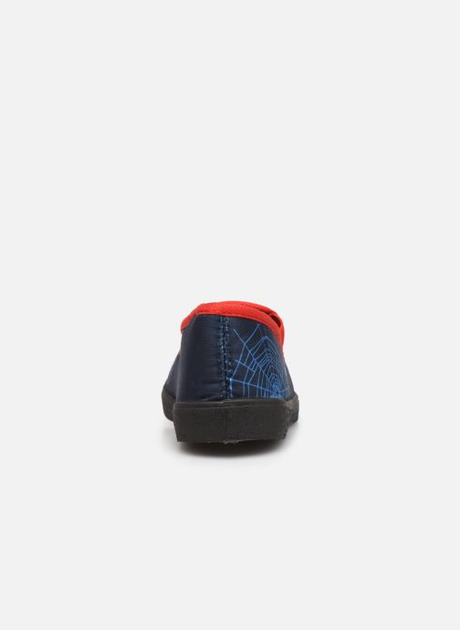 Hausschuhe Spiderman Signe blau ansicht von rechts