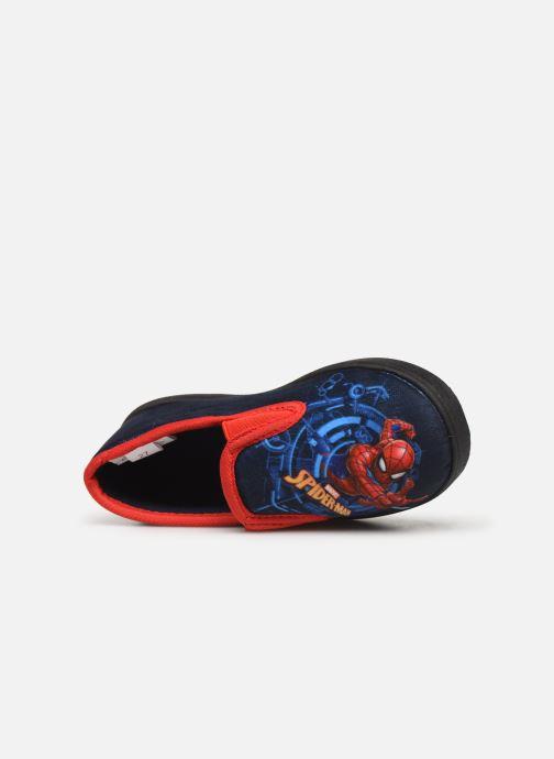 Hausschuhe Spiderman Signe blau ansicht von links
