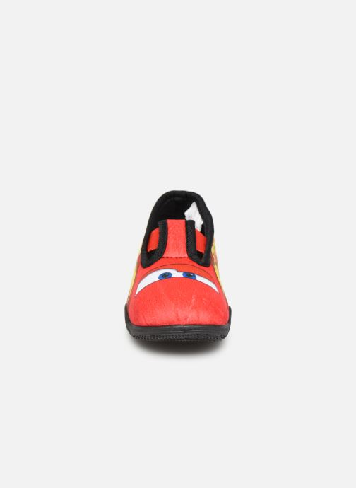 Chaussons Cars Speedy Rouge vue portées chaussures