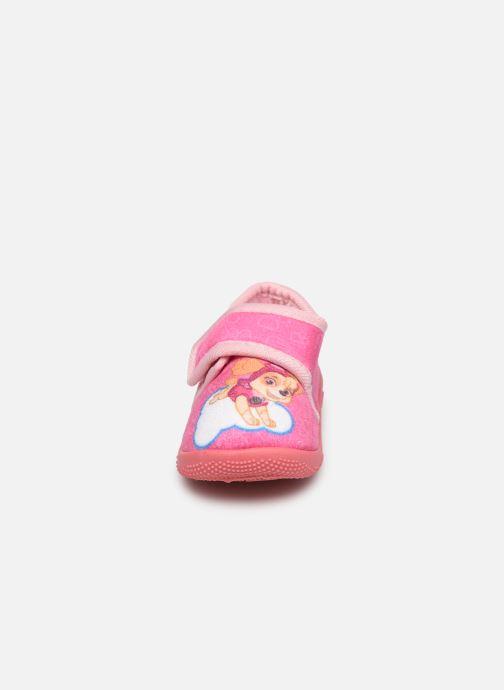 Chaussons Pat Patrouille Sarazin Rose vue portées chaussures