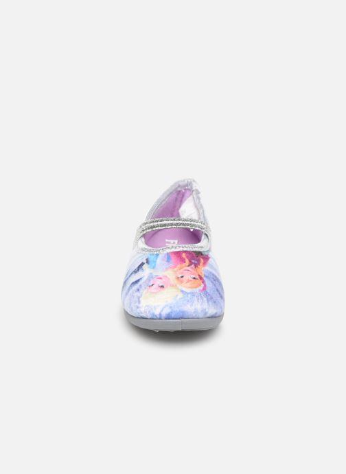 Hausschuhe Frozen Spiruline lila schuhe getragen