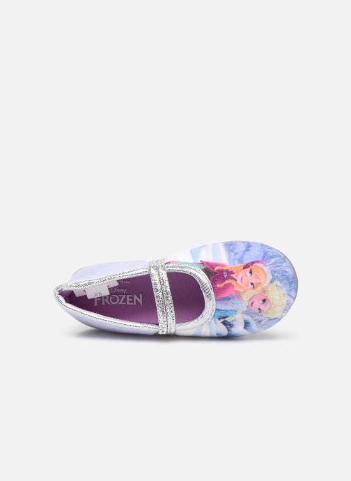 Hausschuhe Frozen Spiruline lila ansicht von links