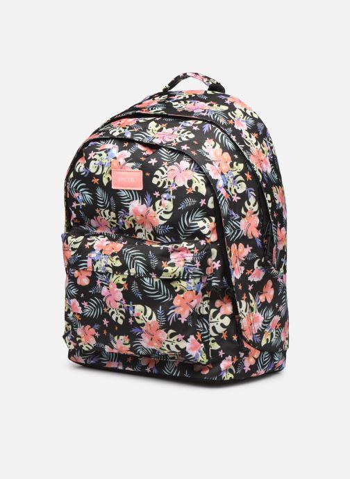 School bags Rip Curl DOUBLE DOME TOUCAN FLORA Black model view