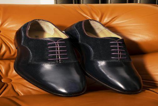 Chaussures à lacets Marvin&Co Luxe Dowson - Cousu Blake Bleu vue bas / vue portée sac