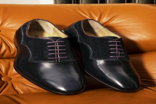 Lace-up shoes Marvin&Co Luxe Dowson - Cousu Blake Blue view from underneath / model view