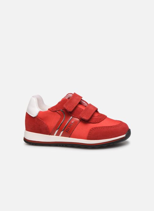 Sneakers BOSS Baskets J09117 Rood achterkant