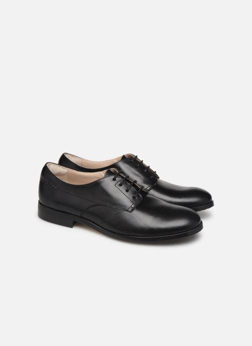 Zapatos con cordones BOSS Chaussures J29195 Negro vista 3/4