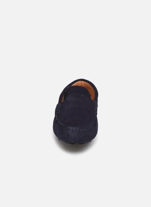 Mocassins BOSS Mocassins J29196 Bleu vue portées chaussures