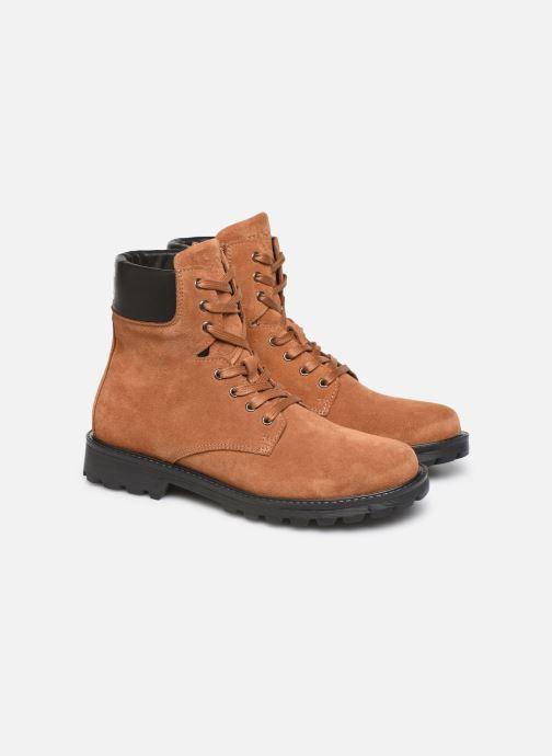 Bottines et boots BOSS Bottines J29192 Marron vue 3/4