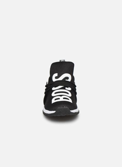 Baskets BOSS Sneakers J29F72 Noir vue portées chaussures
