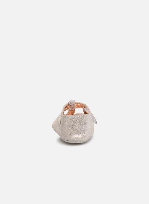 Pantuflas CARREMENT BEAU Chaussons Y99042 Plateado vista lateral derecha