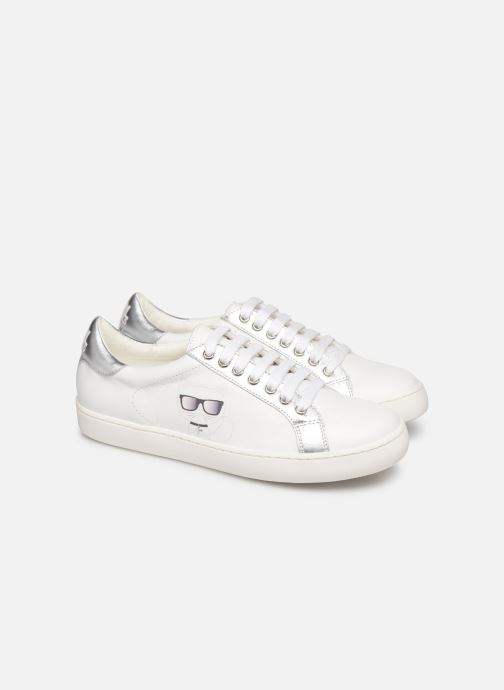 Trainers KARL LAGERFELD Romantic Sparkle White 3/4 view