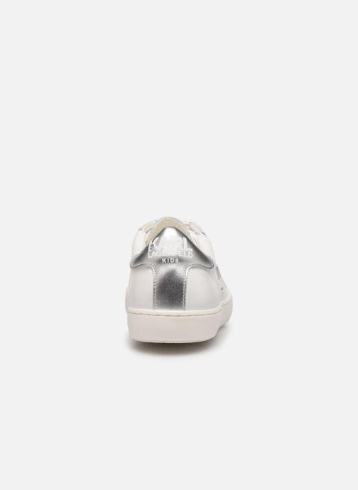 Baskets KARL LAGERFELD Romantic Sparkle Blanc vue droite