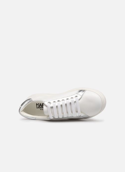 Trainers KARL LAGERFELD Romantic Sparkle White view from the left
