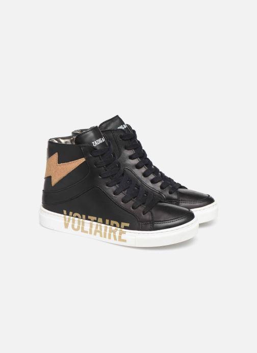 Sneakers Zadig & Voltaire Baskets X19012 Zwart 3/4'