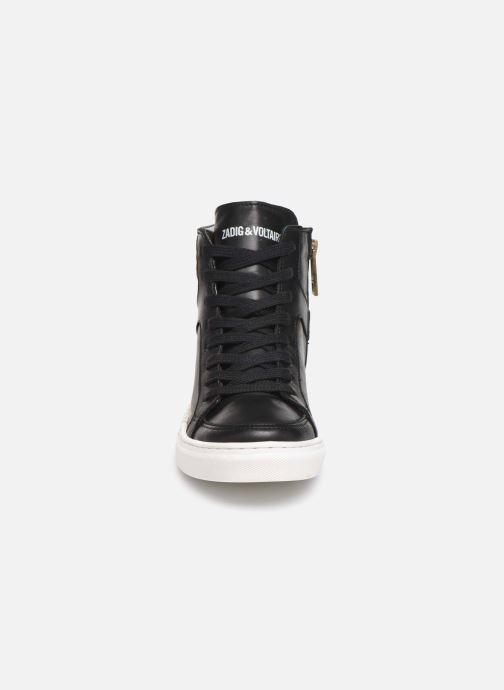 Sneaker Zadig & Voltaire Baskets X19012 schwarz schuhe getragen