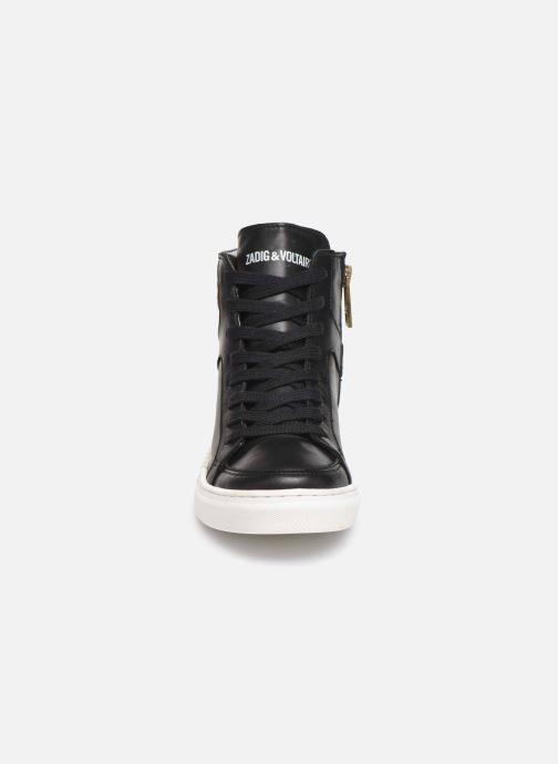 Sneakers Zadig & Voltaire Baskets X19012 Nero modello indossato