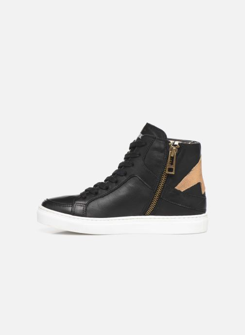 Sneaker Zadig & Voltaire Baskets X19012 schwarz ansicht von vorne