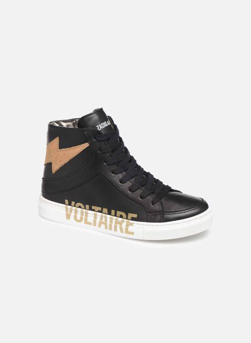 Sneaker Zadig & Voltaire Baskets X19012 schwarz detaillierte ansicht/modell