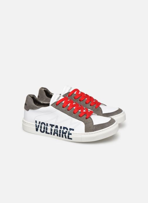 Trainers Zadig & Voltaire Baskets X29010 White 3/4 view