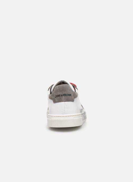 Sneakers Zadig & Voltaire Baskets X29010 Wit rechts